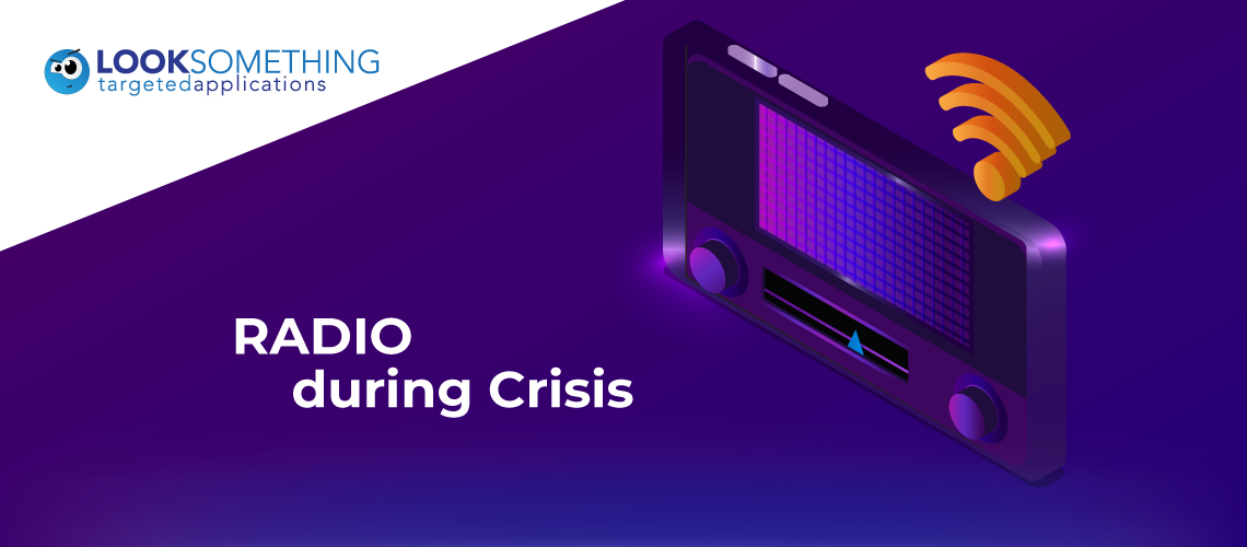 A radio mobile app broadcasting important information during a crisis