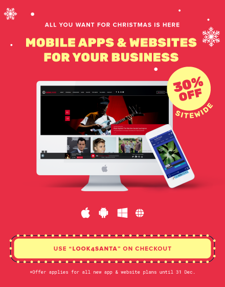 Mobile Apps & Websites - 30% OFF Sitewide